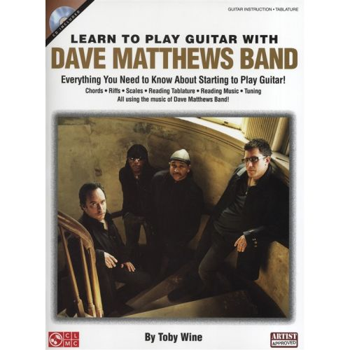 CHERRY LANE LEARN TO PLAY GUITAR WITH DAVE MATTHEWS BAND TAB + CD - GUITAR