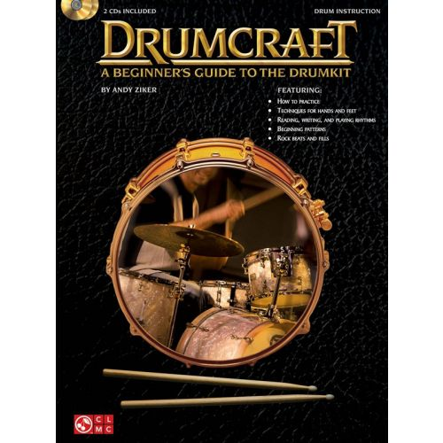 HAL LEONARD DRUMCRAFT A BEGINNER'S GUIDE TO THE DRUMKIT DRUMS + CD - DRUMS