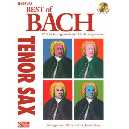 CHERRY LANE BEST OF BACH TENOR SAX SOLOS + CD - TENOR SAXOPHONE