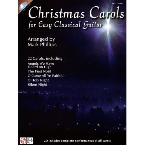 HAL LEONARD CHRISTMAS CAROLS FOR EASY GUITAR + CD - CLASSICAL GUITAR