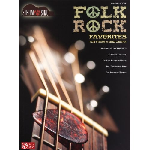 HAL LEONARD FOLK ROCK FAVORITES STRUM AND SING EASY GUITAR - LYRICS AND CHORDS