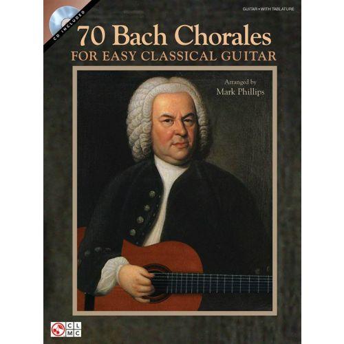 HAL LEONARD 70 BACH CHORALES FOR EASY CLASSICAL GUITAR + CD - GUITAR