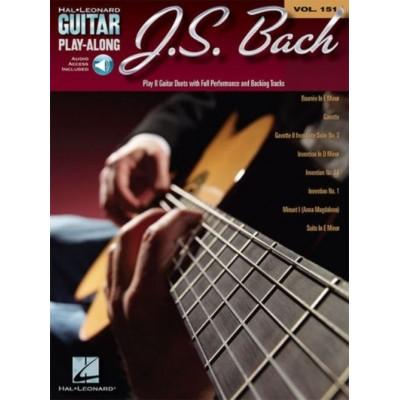 HAL LEONARD J.S. BACH - HAL LEONARD GUITAR PLAY ALONG VOL.151