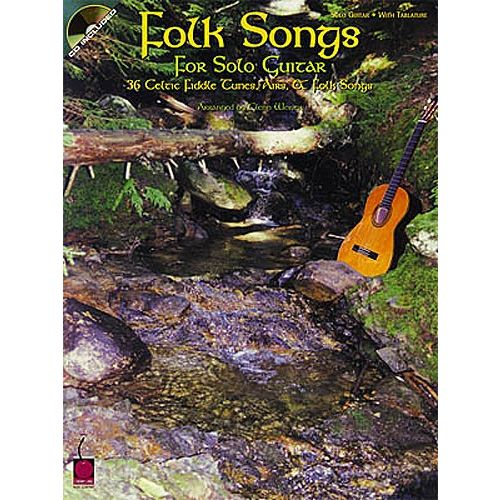 HAL LEONARD FOLK SONGS FOR SOLO + CD - GUITAR TAB