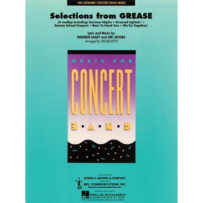 HAL LEONARD SELECTIONS FROM GREASE - SCORE
