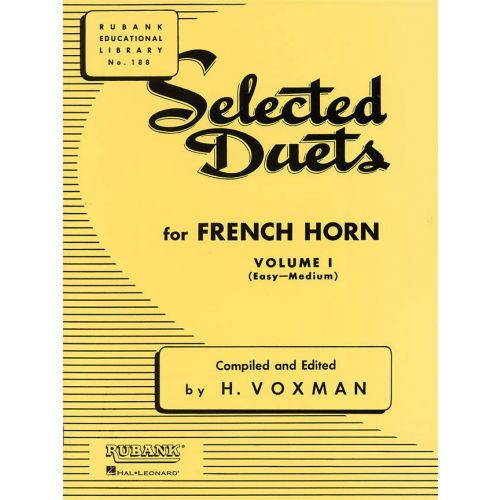 RUBANK VOXMAN HIMIE - SELECTED DUETS FOR FRENCH HORN VOLUME 1 - EASY TO MEDIUM