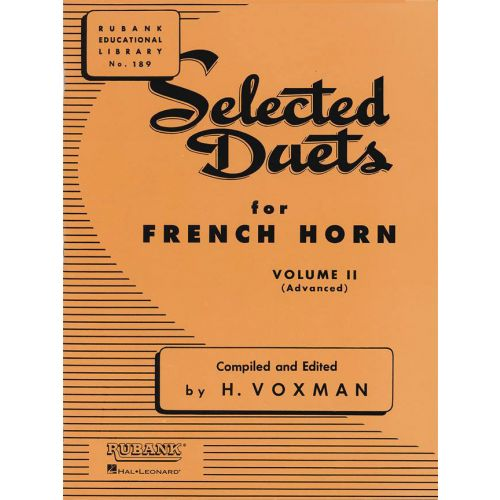RUBANK VOXMAN HIMIE - SELECTED DUETS FOR FRENCH HORN VOLUME 2 - ADVANCED