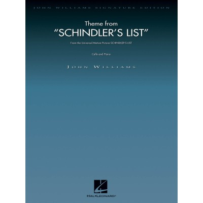 HAL LEONARD JOHN WILLIAMS - THEME FROM SCHINDLER'S LIST - VIOLONCELLE & PIANO