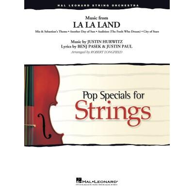 HAL LEONARD MUSIC FROM LA LA LAND (ARR. ROBERT LONGFIELD) - SCORE & PARTS