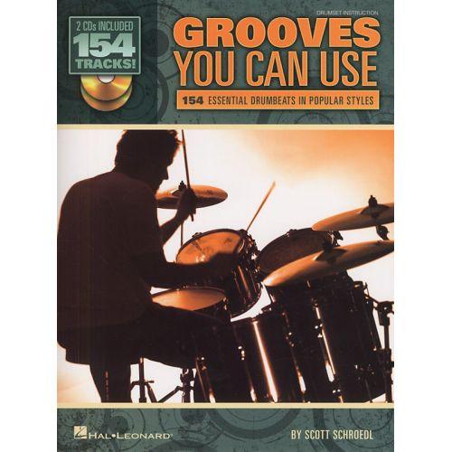 HAL LEONARD SCOTT SCHROEDL GROOVES YOU CAN USE DRUMS + 2CD - DRUMS