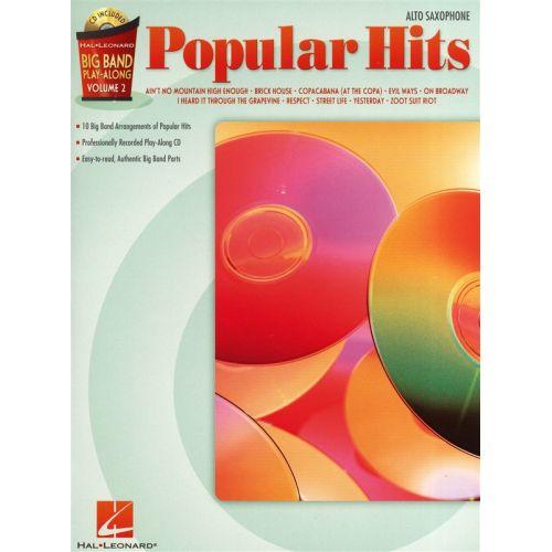 HAL LEONARD BIG BAND PLAY ALONG VOLUME 2 POPULAR HITS + CD - ALTO SAXOPHONE