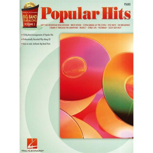 HAL LEONARD BIG BAND PLAY ALONG VOLUME 2 POPULAR HITS PIANO + CD - PIANO SOLO