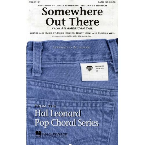 HAL LEONARD JAMES HORNER SOMEWHERE OUT THERE CHOR - CHORAL