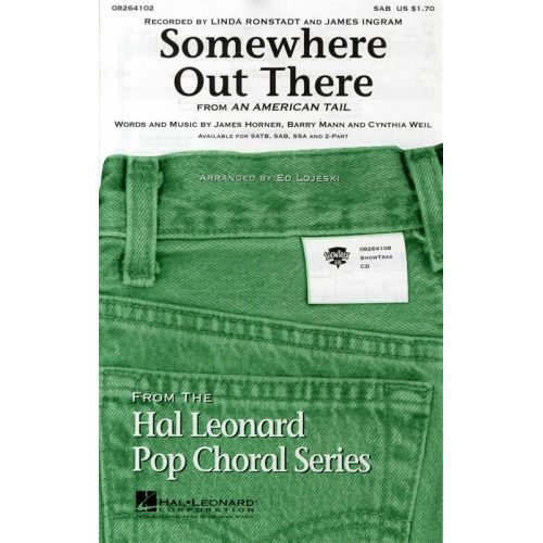 HAL LEONARD JAMES HORNER SOMEWHERE OUT THERE CHOR