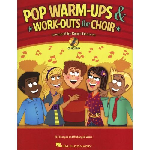 HAL LEONARD EMERSON ROGER - POP WARM-UPS AND WORK-OUTS FOR CHOIR CHOR + CD - VOICE