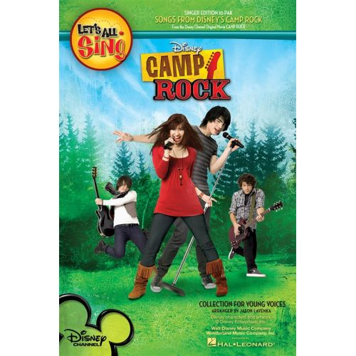 HAL LEONARD LET'S ALL SING SONGS FROM DISNEY'S CAMP ROCK COLLECTION FOR YOUNG VOICE - VOICE