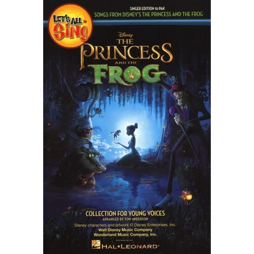 HAL LEONARD LETS ALL SING SONGS FROM DISNEY PRINCESS AND THE FROG SINGERS ED 10PK - CHORAL
