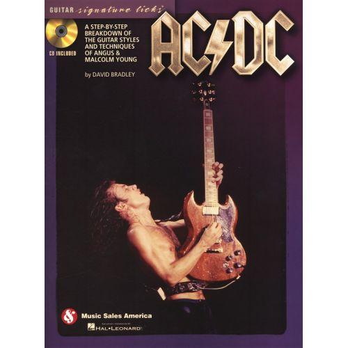HAL LEONARD AC/DC GUITAR SIGNATURE LICKS GUITAR STYLES TECHNIQUES + CD - GUITAR