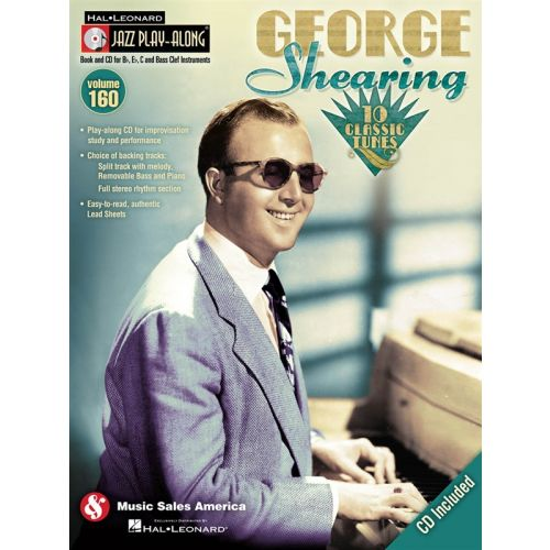 HAL LEONARD JAZZ PLAY ALONG VOLUME 160 - SHEARING GEORGE ALL INSTRUMENTS + CD - BASS CLEF INSTRUMENTS