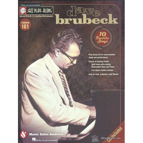 HAL LEONARD JAZZ PLAY ALONG VOL.161 - DAVE BRUBECK - BB, EB, C INST. CD