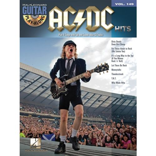 HAL LEONARD GUITAR PLAY ALONG VOLUME 149 AC/DC HITS GUITAR + CD - GUITAR TAB