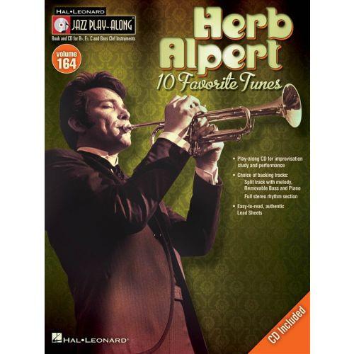 HAL LEONARD JAZZ PLAY ALONG VOLUME 164 - ALPERT HERB ALL INSTRUMENTS + CD - B FLAT INSTRUMENTS