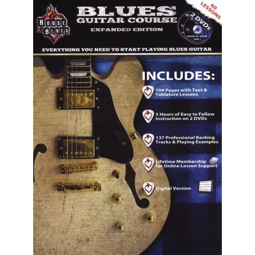 HAL LEONARD BLUES GUITAR COURSE + 2DVD - GUITAR