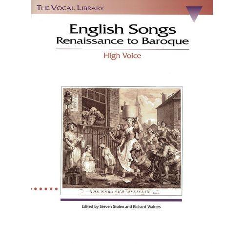 HAL LEONARD ENGLISH SONGS RENAISSANCE TO BAROQUE - HIGH VOICE