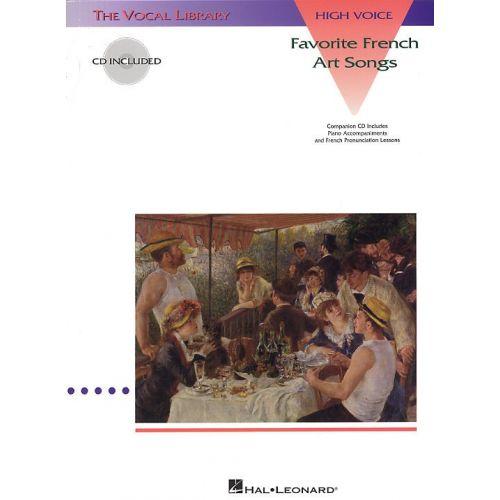 HAL LEONARD FAVORITE FRENCH ART SONGS + CD - HIGH VOICE