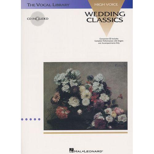 HAL LEONARD WEDDING CLASSICS + CD - HIGH VOICE