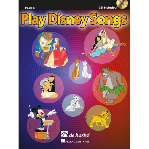 DEHASKE PLAY DISNEY SONGS - FLUTE + CD
