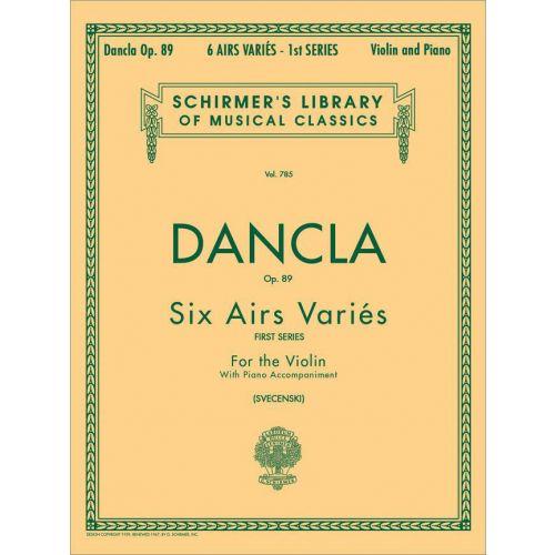 SCHIRMER DANCLA CHARLES - 6 AIRS VARIES OP.89 - VIOLON ET PIANO