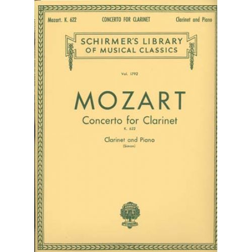 HAL LEONARD MOZART - CONCERTO K.622 - CLARINET AND PIANO
