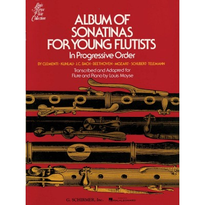SCHIRMER MOYSE LOUIS - ALBUM OF SONATINAS FOR YOUNG FLUTISTS - FLUTE & PIANO