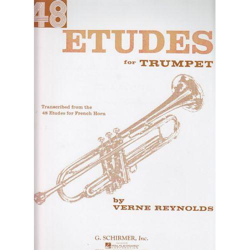 HAL LEONARD REYNOLDS VERNE - 48 ETUDES FOR TRUMPET