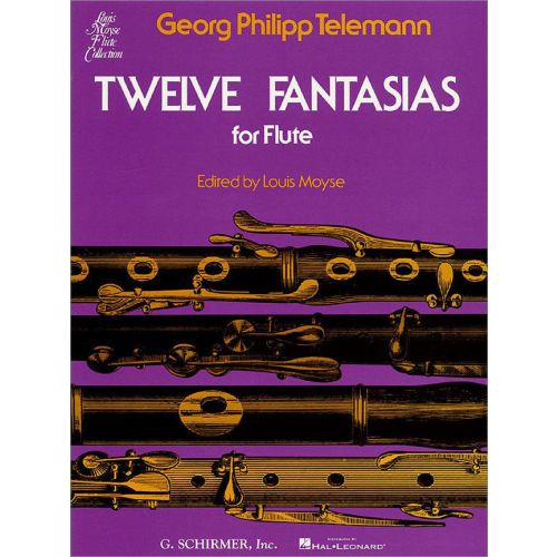 SCHIRMER TELEMANN TWELVE FANTASIAS FOR FLUTE