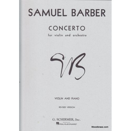 SCHIRMER BARBER S. - CONCERTO FOR VIOLIN AND ORCH - VIOLON & PIANO)