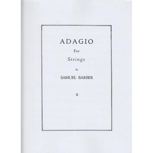 HAL LEONARD BARBER S. - ADAGIO FOR STRINGS - CONDUCTEUR