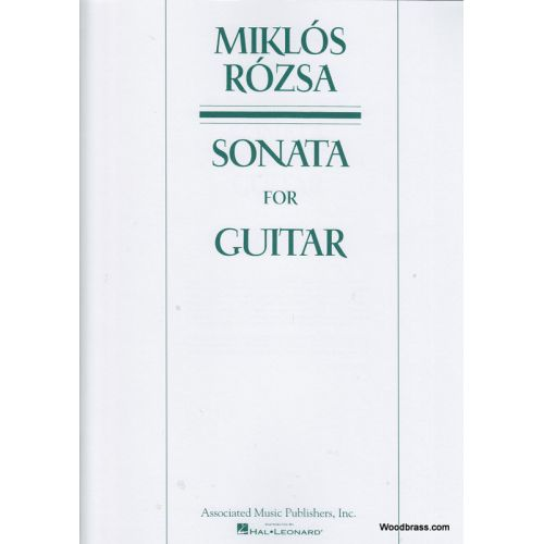 HAL LEONARD ROZSA M. - SONATA FOR GUITAR