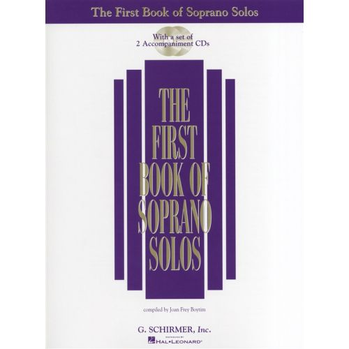 HAL LEONARD SCHIRMER THE FIRST BOOK OF SOPRANO SOLOS + 2CD