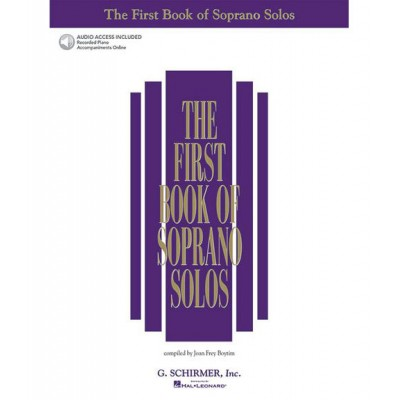 HAL LEONARD SCHIRMER THE FIRST BOOK OF SOPRANO SOLOS + MP3