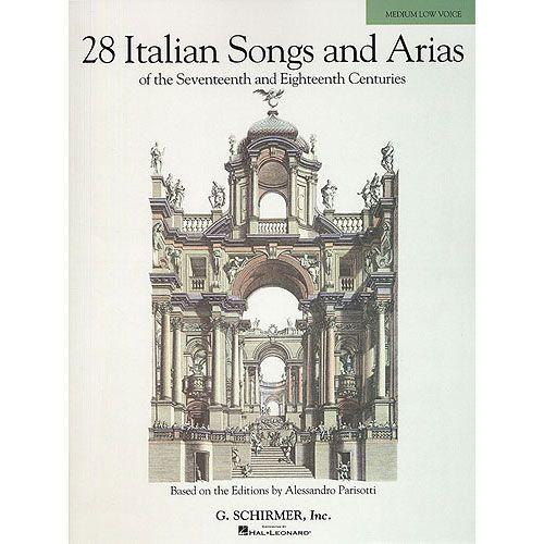 HAL LEONARD 28 ITALIAN SONGS AND ARIAS - MEDIUM VOICE