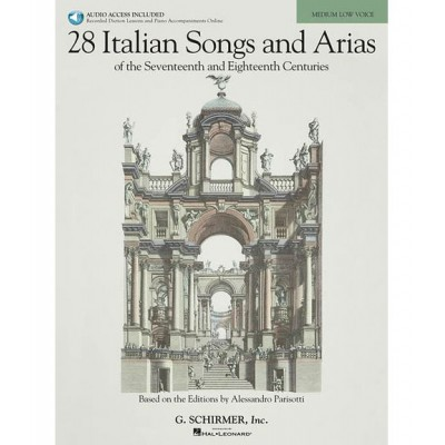 HAL LEONARD 28 ITALIAN SONGS AND ARIAS MEDIUM + 2 CD - PIANO, CHANT