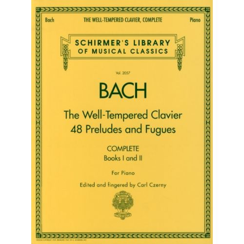 HAL LEONARD J.S. BACH THE WELL-TEMPERED CLAVIER COMPLETE - PIANO SOLO