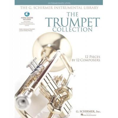 SCHIRMER TRUMPET COLLECTION + MP3, INTERMEDIATE LEVEL - TROMPETTE, PIANO