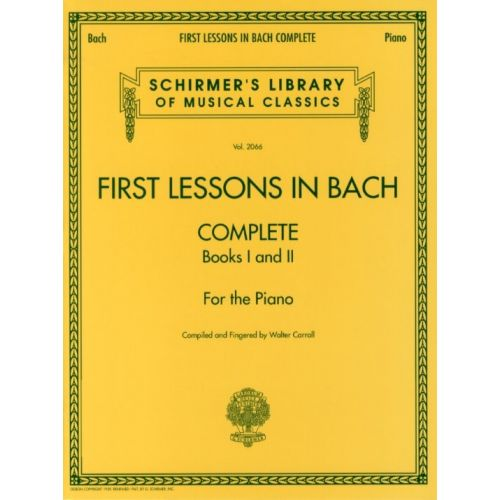 HAL LEONARD FIRST LESSONS IN BACH COMPLETE - PIANO SOLO