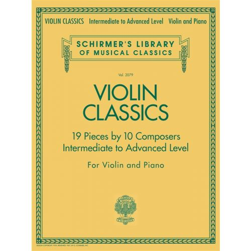 HAL LEONARD SCHIRMER'S LIBRARY OF MUSICAL CLASSICS VIOLIN CLASSICS INTERMEDIATE - VIOLIN