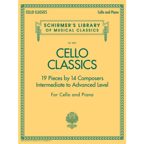 HAL LEONARD CELLO CLASSICS INTERMEDIATE TO ADVANCED LEVEL - CELLO