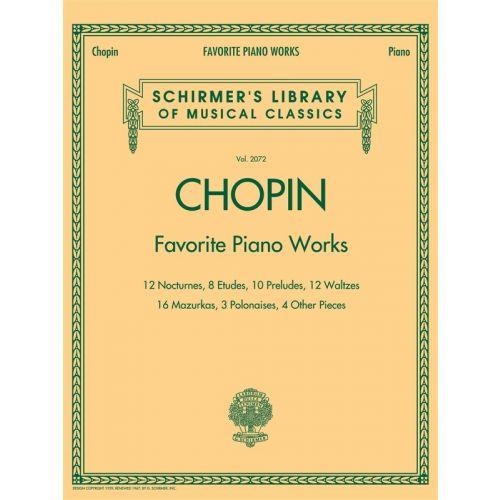 HAL LEONARD CHOPIN FREDERIC FAVORITE PIANO WORKS - PIANO SOLO
