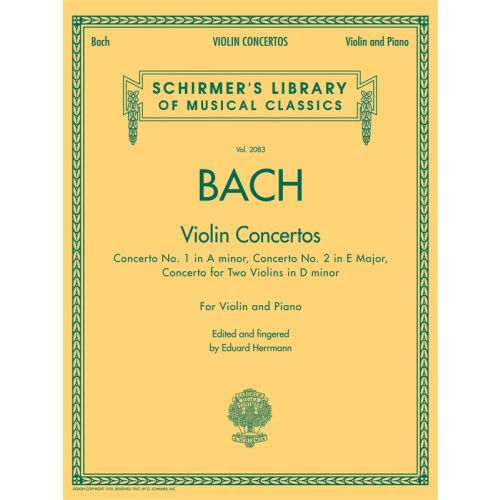 SCHIRMER HERRMANN EDUARD - VIOLIN CONCERTOS - VIOLIN AND PIANO REDUCTION - VIOLIN